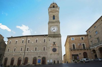 Macerata Piazza della Liberta Clock Tower