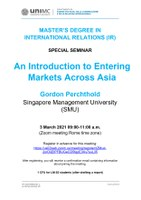 """Seminar: """"An Introduction to Entering Markets Across Asia"""""""