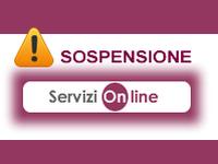 Sospensione servizi on line