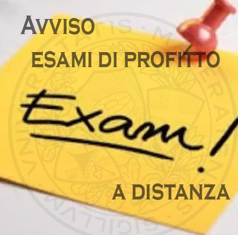 Procedura esami di profitto a distanza